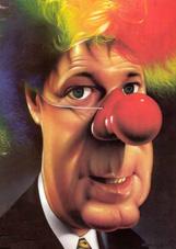 Charest fait le clown