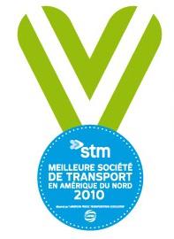 STM: Meilleure société de transport en Amérique du Nord 2010
