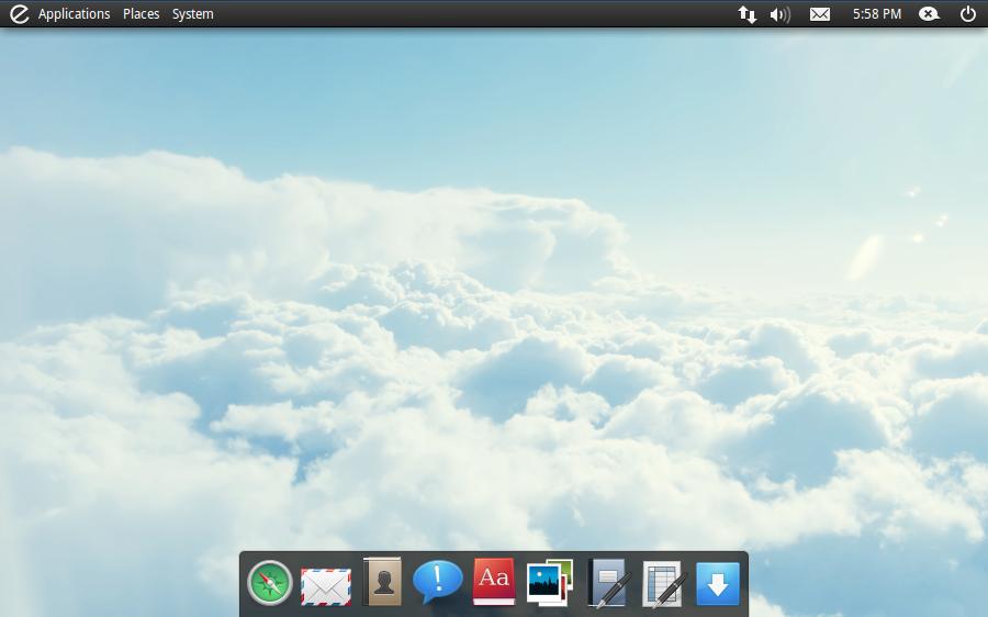 Capture d'écran d'elementaryOS