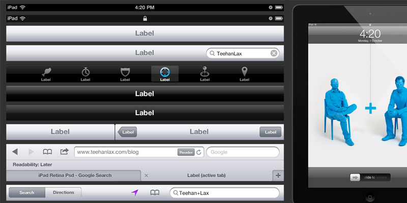 Kit IHM iPad Retina PSD