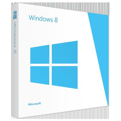 Boîte du système d'exploitation Windows 8