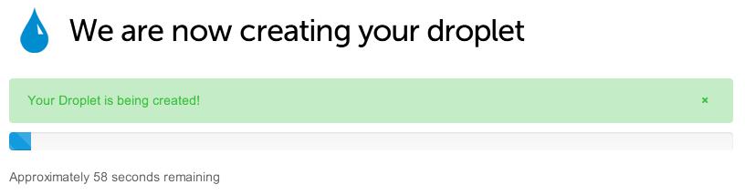 Création du Droplet en cours... - DigitalOcean